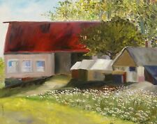 ORIGINAL FARM  Landscape Painting IMPRESSIONISM JMW John Williams OIL SALE