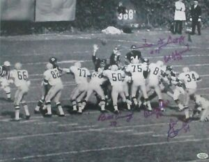 Packers WILLIE DAVIS, FORREST GREGG, DON CHANDLER & MORE Signed 11X14 Photo AUTO