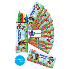 PAW PATROL PARTY SUPPLIES FAVOURS 12 BOX OF CRAYONS (4 CRAYONS IN EACH BOX)
