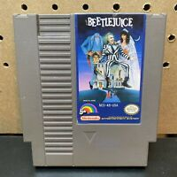 BeetleJuice Nintendo Game Cartridge + Dustcover Only-Tested-NES-Fast Shipping