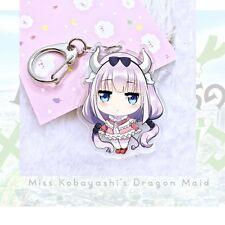 Hot Miss Kobayashi's Dragon Maid Kanna Kamui Tohru Acrylic Keychain Keyring Gift