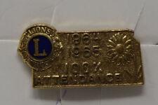 Vintage Kansas Lions Club pin / tie tack 1964-65