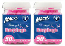 MACKS(MACK'S) DREAMGIRL PINK FOAM EARPLUGS 50 PAIR JAR TWIN PACK 100 PAIRS