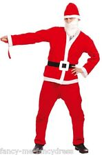 Mens Bargain Santa Father Christmas Xmas Fancy Dress Costume Outfit Size Large
