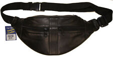 Joggers Leather Waist Fanny Pack Belt Pouch Travel Hip Purse Men Women Black New