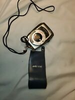 Gold Crest Camera Light Meter Vintage w/ Leather Case Photography Needs Battery