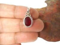 RUBY  Sterling  Silver  925  Gemstone  PENDANT  -  Gift Boxed!