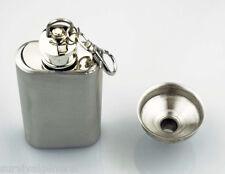 Stainless Steel 2 oz Pocket Metal Hip Flask Screw Cap Liquor Whisky Funnel Key
