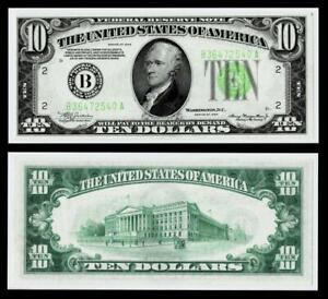 1934 $10 DOLLAR BILL  FEDERAL RESERVE NOTE~CRISP~ UNCIRCULATED
