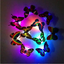 2PCS Colorful Changing Butterfly LED Night Light Lamp Home Room Party Desk Wall