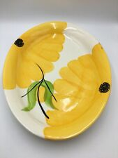 Floral Serving Platter X Large Tray Yellow Flowers
