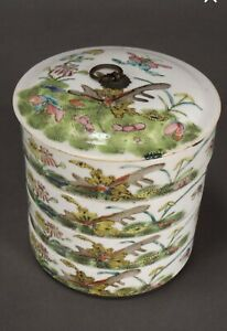 Antique Chinese Porcelain Tiered Container