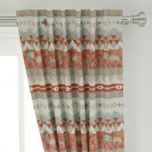 """Southwest Geometric Tribal Aztec Arrows 50"""" Wide Curtain Panel by Roostery"""