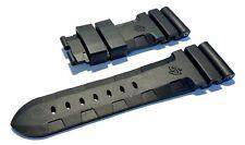 Officine Panerai 26mm Lug Black Accordion Rubber Watch Strap