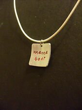 "Handmade Custom Hand Stamped Necklace Square Aluminum ""Mama Bear"" You Pick Color"