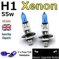 H1 55w SUPER WHITE XENON (448) HIGH BEAM UPGRADE Head Light Bulbs 12v V