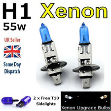 H1 55w SUPER WHITE XENON (448) HIGH BEAM UPGRADE Head Light Bulbs 12v V