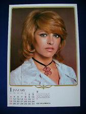 1976 Nathalie Delon Japan VINTAGE calendar POSTER VERY RARE