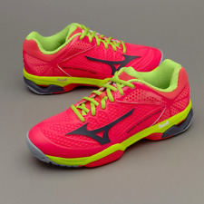 NEW Womens Mizuno Tennis Shoes Wave Exceed Tour 2 AC Pink Lime Green Size 10.5
