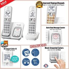 Panasonic Cordless Phone Digital Home Call Block Answering Machine 2 Handsets