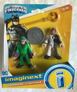 Imaginext DC Super Friends The Riddler & Two-Face Figures - NIP