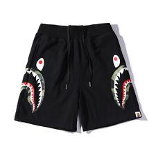 Men Bape Shark Head A Bathing Ape Seaside Loose Casual Sports Short Pants Shorts