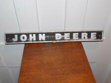 John Deere Aluminum Embossed Sign
