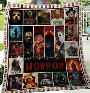 Horror Character Horror Movie Halloween Movie Quilt, Fleece Blanket