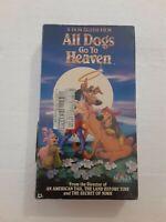 NEW SEALED All Dogs Go to Heaven (VHS, 1990) KMART RARE HTF Video Cassette Tape