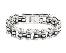 "Biker Chain Bracelet Stainless Steel 3/4 "" Wide 9"" Length Harley OCC West Coast"
