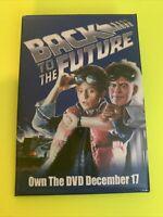 VINTAGE PROMO PINBACK BUTTON  - BACK TO THE FUTURE - DVD DEC 17 - 2002