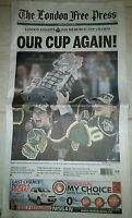 London Knights Memorial Cup Champs LFP newspaper OHL CHL