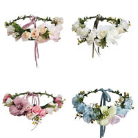 Bridal Boho Large Flower Headband Garland Festival Wedding Crown Vine Hair Band