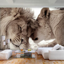 Lion Fleece Photo Wallpaper wallpaper XXL holding Cushion Living Room 3 Motif Mo...