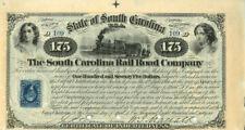 South Carolina Rail Road Company $175 Bond