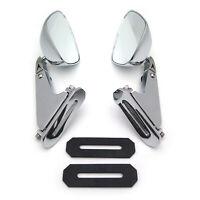 Diamond Shape Rearview Mirrors For Honda Suzuki Yamaha Kawasaki Bike Chromed