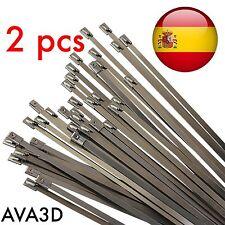 2 Bridas Metálicas Clamp Calidad Metal Resistentes 4,6 X 200 mm Tubos Cables