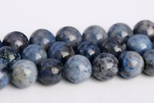8MM Natural Blue Dumortierite Grade AAA Round Gemstone Loose Beads 15.5