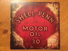 Tin Sign Vintage Shell-Penn Motor Oil