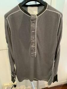 100% Authentic Vroom long sleeve henley shirt - size M Made in Japan