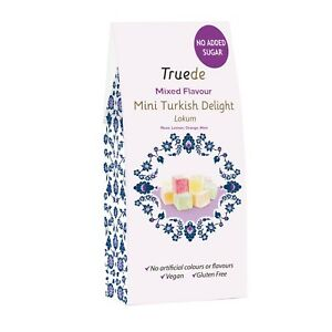 NO ADDED SUGAR 150g Mini Mixed Flavour Turkish Delight Soft Mom Gran Sweet Gift