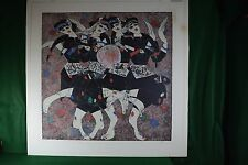 "Jiang Tie Feng ""Moonlight Dance"" Serigraph 48"" x 48"" Signed Artist's Proof 31/50"