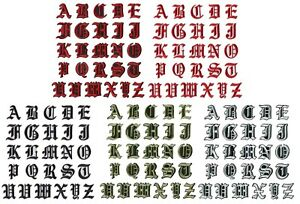Old English Medieval Letter Patch Patches Iron on Alphabet Embroidery Customise