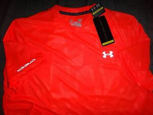 UNDER ARMOUR COLD BLACK RUNNING FITTED SHIRT L MEN NWT $39.99
