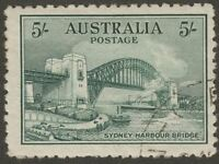 Australia 1932 KGV Sydney Harbour Bridge 5sh Blue-Green CTO Used SG143 cat £200