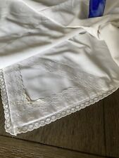 Vintage White Cotton, Muslin And Lace Jena Lee  Baby Blanket