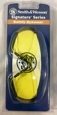 Smith & Wesson Signature Series Safety / Shooting Glasses Black Frame Amber Lens