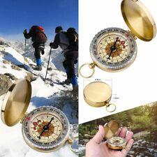 Taschenkompass Messing Taschenuhr Kompass Navigation Schlüsselanhänger Wandern 3
