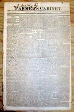 Best 1821 display headline newspaper INAUGURATION of US PRESIDENT JAMES MONROE