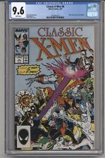 CLASSIC XMEN #8 CGC 9.6 WPGS BOLTON PINUP,  ART ADAMS COVER, CLAREMONT STRY 1987